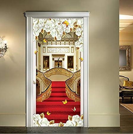 modèle unique magasin britannique style populaire Style Européen Autocollant De Porte 3D Escaliers Tapis Rouge ...