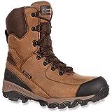"Rocky RKS0181 Mens Adaptagrip Brown Waterproof Insulated 8"" Outdoor Boot Wide Width"