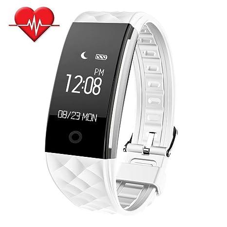TechCode Rastreador de Fitness, Pulsera Inteligente Reloj Inteligente IP67 Actividad Deportiva Impermeable Ritmo cardíaco Podómetro