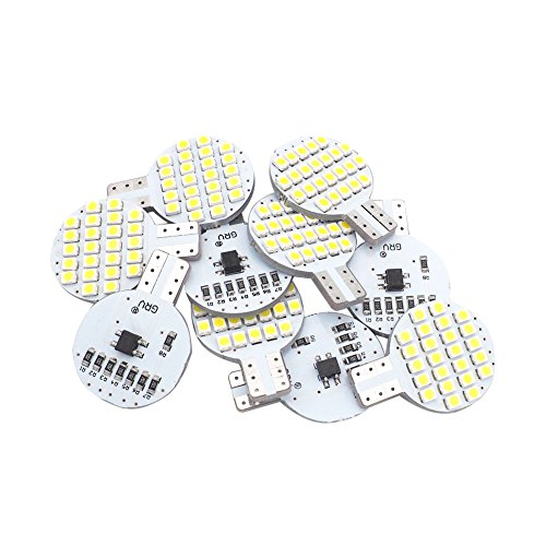 Grv T10 LED Light Bulb 921 194 192 C921 24-3528 SMD Super Bright Lamp DC 12V 2 Watt For Car RV Boat Ceiling Dome Interior Lights Cool White (2nd Generation) Pack of 10