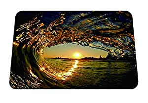 "Sunset Surf Hawaii - Mouse Pad - Gaming Mouse Pad - 8.6""x7.1"" inches"