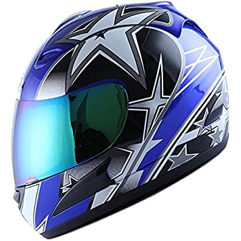 Amazon Com Wow Motorcycle Full Face Helmet Street Bike Racing Star