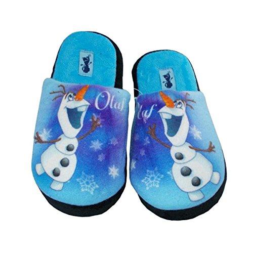 Frozen - Zapatillas de estar Por casa de Material Sintético Para Niño Blanco Bianco 33 azul claro