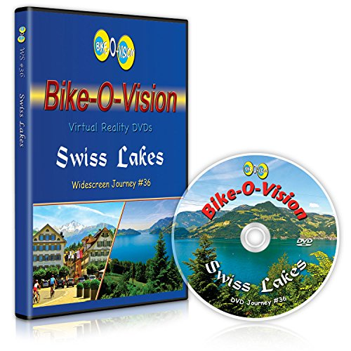 Bike-O-Vision - Virtual Cycling Adventure - Swiss Lakes - Perfect for Indoor Cycling and Treadmill Workouts - Cardio Fitness Scenery Video (Widescreen DVD #36) (Swiss Screen)