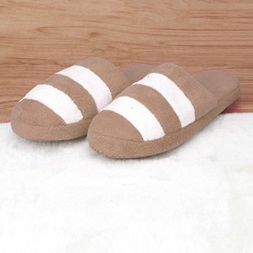 Sunfei Donne Morbide Calde Coperte Bowknot Pantofole Di Cotone Casa Antiscivolo Scarpe Caffè