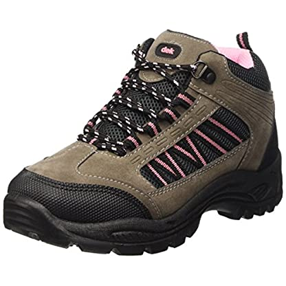 Dek Womens Hiking/Walking/Trekking Ankle Boots Grey/Pink 1