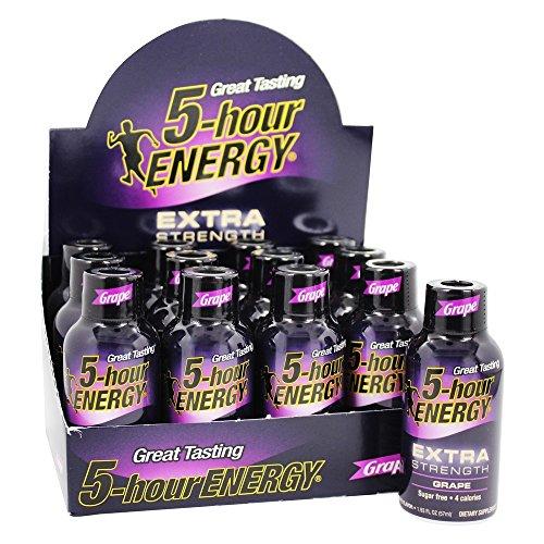 Living Essentials 5-Hour Energy Extra Strength Grape 12 Bott