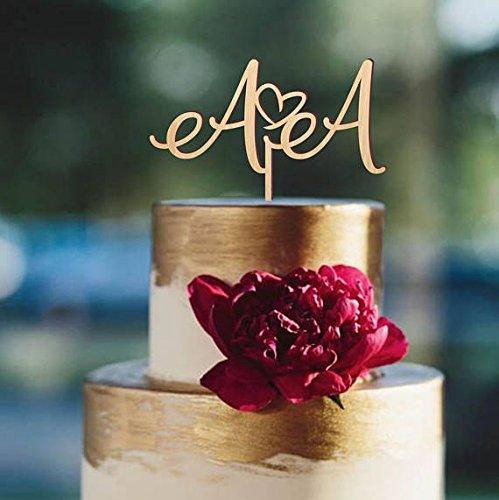 Cake Topper For Wedding Initials Cake Topper Wedding Cake Topper