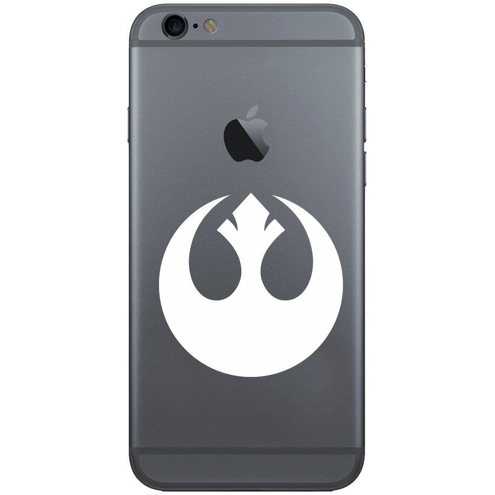 Amazon com rebel alliance vinyl cell phone decal for the iphone or android white 2 wide cell phones accessories