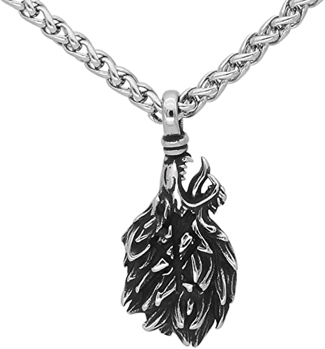 Punk Vikings Spider Skull Runic Pendant Amulet Protection Necklace Silver