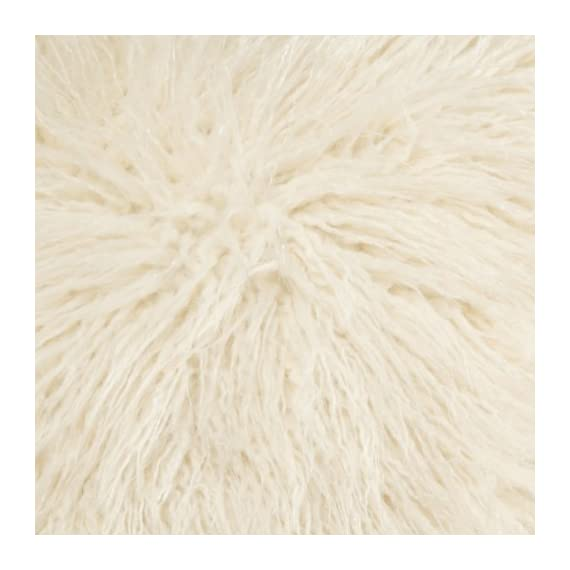 Brentwood 18-Inch Mongolian Faux Fur Pillow,  White - PLUSH FILLING that provides extreme comfort and support for lounging around PERFECTLY VERSATILE designs to accent your bed or sofa as a throw pillow CONSITENT HIGH-END QUALITY from one of the top decorative pillow manufacturers, Brentwood Originals. - living-room-soft-furnishings, living-room, decorative-pillows - 51rft4mt1xL. SS570  -