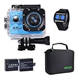 4K Action Camera, Sports Camera With Remote Underwater Camera Wifi Waterproof UHD 20MP 170 Degree Wide Angle 2