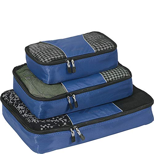 eBags Classic Packing Cubes for Travel - 3pc Set - (Denim) ()