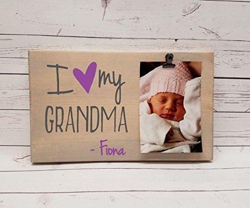 Amazoncom I Love My Grandma Photo Board Wood Picture Frame Photo