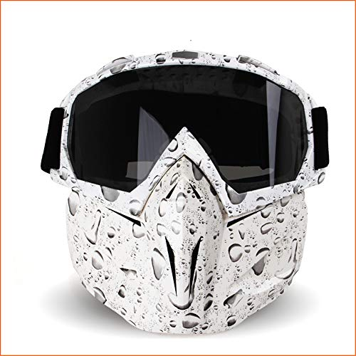 LIDMOTO Motorcycle Helmet Face Mask Goggles for Motocross Road Racing Colourful,Waterdrops