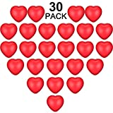 30 Pieces Valentine's Day Red Heart Smile Face