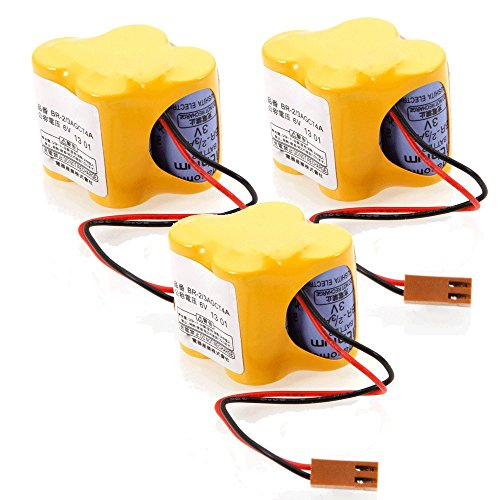 MicroMall(™) 3Pcs 6V 2400MAH BR-2 / 3AGCT4A Li-ion Battery Compatible with Camera, Mp3/mp4 Player, Calculator and Other Electronic Devices