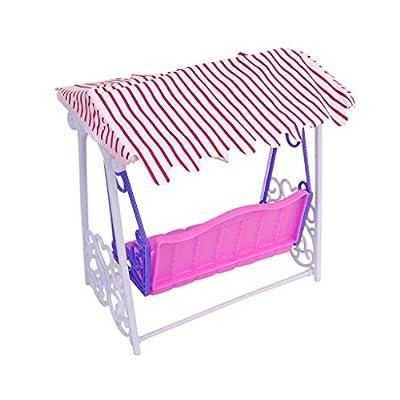 Plastic Garden Swing Play Set for Barbie Doll: Toys & Games