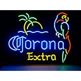 New Corona Extra Parrot Real Glass Neon Light Sign Home Beer Bar Pub Recreation Room Game Room Windows Garage Wall Sign V53