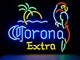 New Corona Extra Parrot Real Glass Neon Light Sign Home Beer Bar Pub Recreation Room Game Room Windows Garage Wall Sign V53 by AOOS