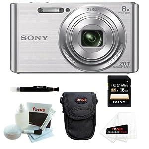 Sony DSCW830 DSCW830 W830 20.1 Digital Camera with 2.7-Inch LCD (Silver) + So...