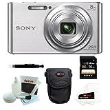 SONY Cyber-shot DSC-W730 Compact Zoom Digital Camera in Silver + 8GB Secure Digital Memory Card + Sony Case in Black + 25 Free Quality Photo Prints