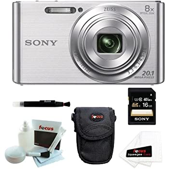 Sony DSCW830 DSCW830 W830 20.1 Digital Camera with 2.7-Inch LCD (Silver) + So...