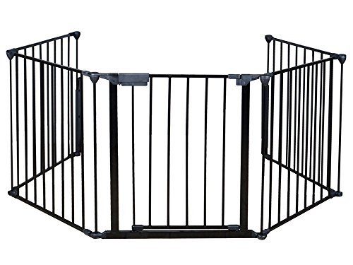 Costzon New Fireplace Fence Baby Safety Fence Hearth Gate BBQ Metal Fire Gate Pet Dog Cat (Dog Stove)