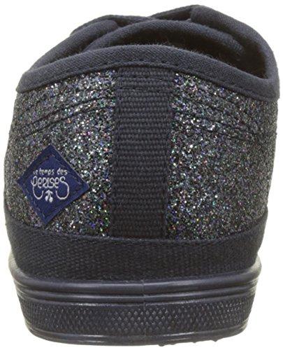 Baskets Basic Navy Femme Temps Glitter Bleu Cerises des Le 02 tXO1q6tw