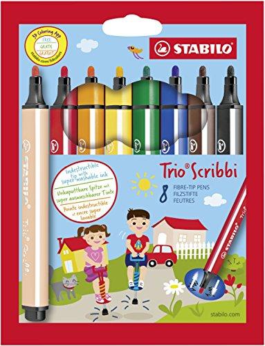 Trio Import (Stabilo Trio Scribbi Set of 8)