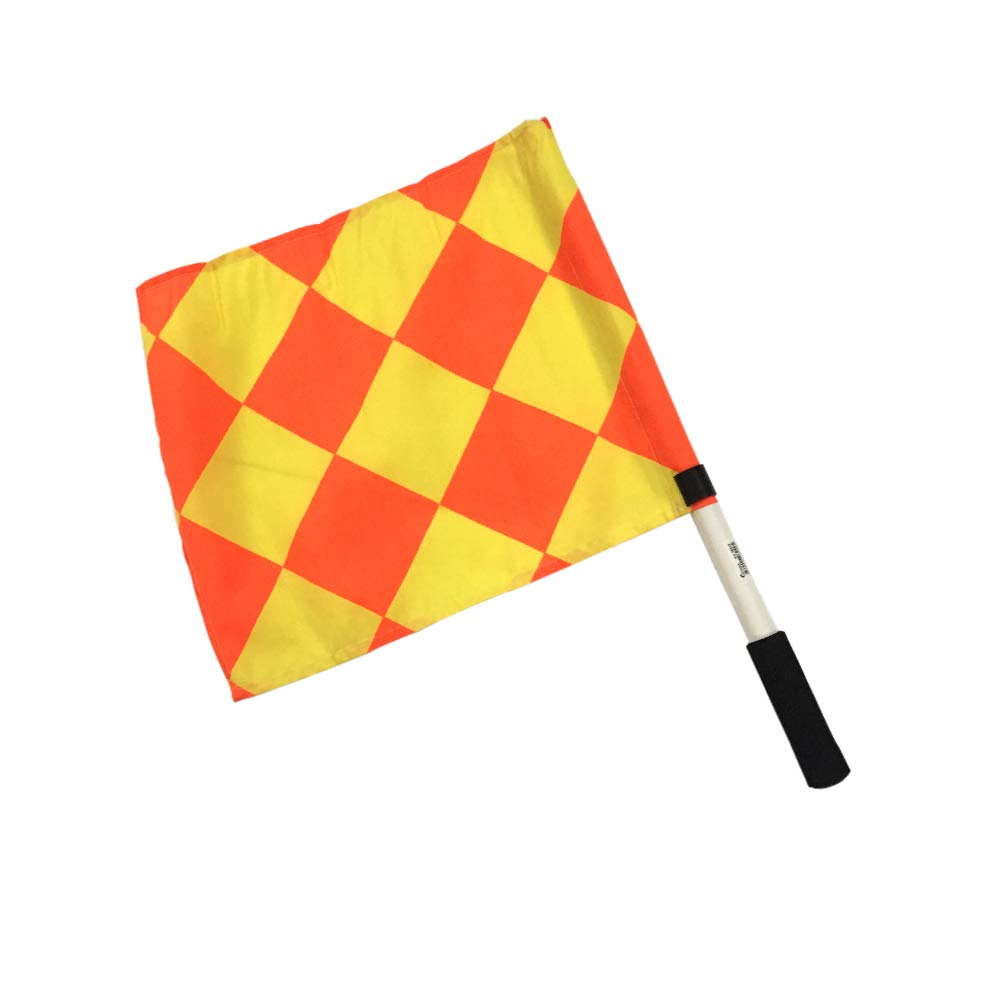 Kosma 2er Set Training Linesman Flag Rot//Gelb Farbe Schiedsrichter-Flag gesetzt