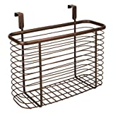 Hanging Bathroom Cabinet InterDesign Axis Over the Cabinet Kitchen Storage Organizer Basket for Aluminum Foil, Sandwich Bags, Cleaning Supplies - Medium, Chrome