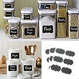 Styleys Vinyl Chalkboard Labels Kitchen Blackboard Stickers for Jars Pack of 48 Stickers