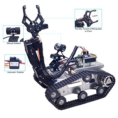 XiaoR Geek Wifi manipulator smart Robot car kit for Raspberry Pi,Tank chassis FPV Camera Programable Robotics Vehicle Kit with 8Gb TF Card by iOS Android PC Controlled by XiaoR Geek (Image #5)