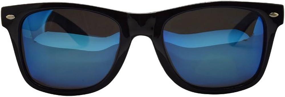 ASVP Shop/® Polarised Classic Rectangular Square Shape Mirror Sunglasses Retro