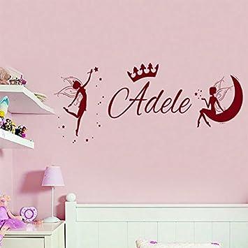 princess girls bedroom door name vinyl decal sticker
