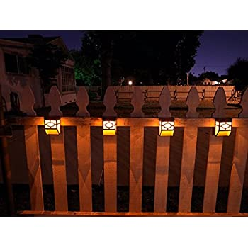Upgrade Solar Powered Wall Mount Lights Landscape Garden Yard Fence Outdoor Warm Lights (8pc)  sc 1 st  Amazon.com & Amazon.com: [Warm Light] Solar Light for Wall porch garden fence ...