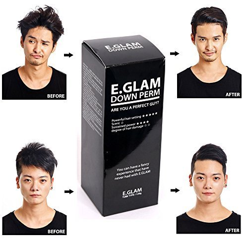 - E.glam Down Perm for Men Speedy Easy Magic Straight Perm Home Kit 120ml