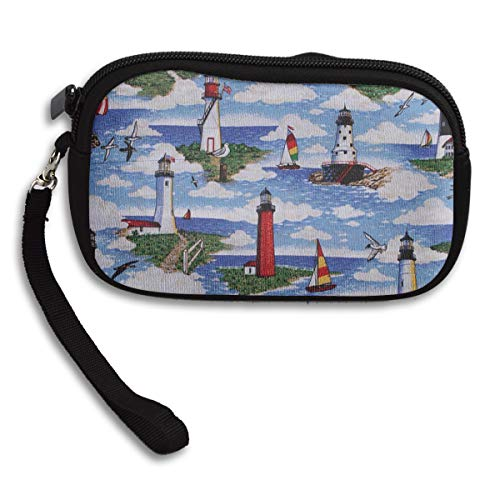 (Lighthouses Scene Big Sable Wristlet Clutch Wallet for Women Girls, Small Clutch Organizer Wallets Ladies Clutch Long Purse - Portable Tote Purse Travel Purse Wristlet Tote Bag)