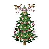 Lemon Tree Cruz Starter Kits principiantes cross-stitching precisa 27,9patrón–feliz Navidad 11CT, sin marco, árbol navideño, 1