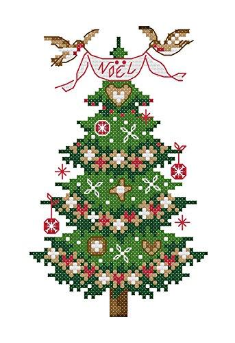 "Lemon Tree Cross Stitch Kits Beginners Cross-Stitching Accurate Pre-Printed  Pattern 11CT 9""X19"" (Christmas Trees)"