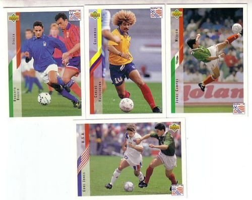 Upper Deck 1994 World Cup Soccer Cards. 500+ Assorted Rare ALL-SPANISH Edition