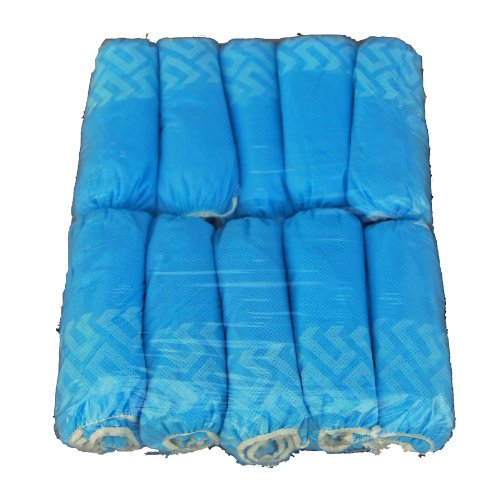 Disposable Shoe Covers Large LGE Non Skid Wholesale 1000 Pack by A-I-A Angel-In-Armor (Image #1)