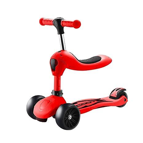 Scooter Patinete Ajustable para niños con Asiento, Rueda de ...