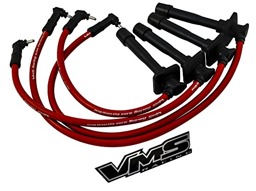 FOR NISSAN 200SX SR20DE ENGINE 10.2MM SPARK WIRES NGK PLATINUM PLUGS KIT RED