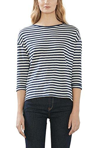 ESPRIT 017ee1k009s, Camisa para Mujer Multicolor (Ink)