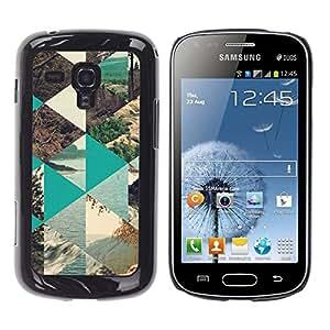 Caucho caso de Shell duro de la cubierta de accesorios de protección BY RAYDREAMMM - Samsung Galaxy S Duos S7562 - Nature Polygon Sea Forest Lake