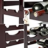 Homfa Bamboo Wine Rack Free Standing Wine Holder