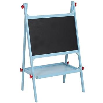 TecTake Pizarra para infantil pizarra para pintar pizarra de madera para niños - disponible en diferentes colores - (Azul | No. 401009)