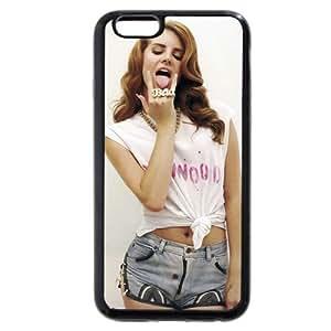 UniqueBox - Customized Personalized Black Soft Rubber(TPU) iPhone 6+ Plus 5.5 Case, American Famous Singer Lana Del Rey iPhone 6 Plus case, Only fit iPhone 6+ (5.5 Inch) hjbrhga1544